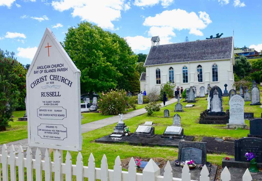 Christ Church mit Friedhof in Russell in der Bay of Islands Neuseeland Copyright Peter Pohle peterstravel