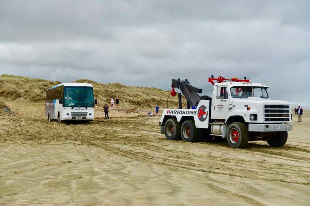 "Paihia Tipps: ""Rettung"" an der 90 Mile Beach, Neuseeland Copyright Peter Pohle PetersTravel"
