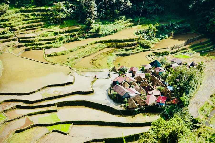 Bangaan Village in den Reisterrassen nahe Batad Copyright Peter Pohle