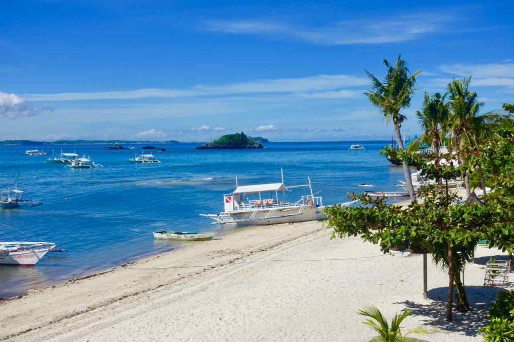 Malapascua Island, Blick von der Terrasse des Cocobana Beach Resort Copyright Peter Pohle PetersTravel