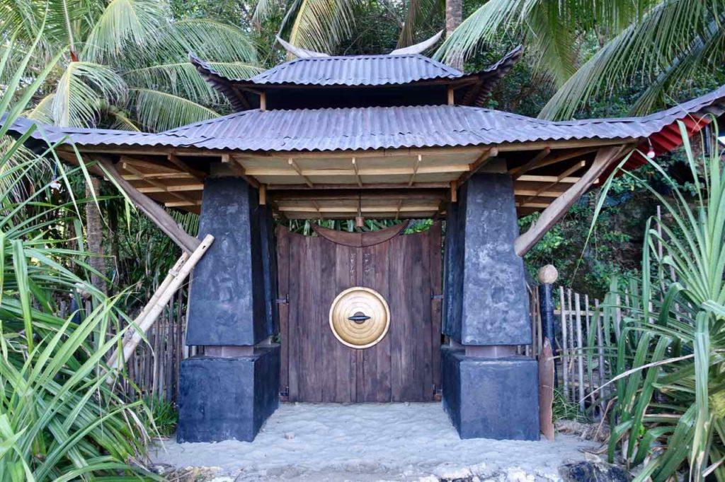 Sugar Beach: Eingangstür zum Privathaus am Anfang des Strandes