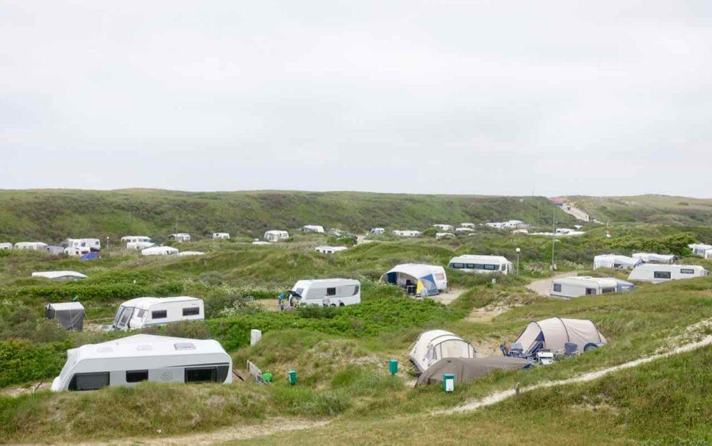 Texel Strände: Campingplatz bei De Koog, Niederlande