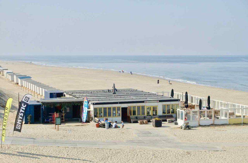 Texel Strände, Paal 9 mit Strandpavillon