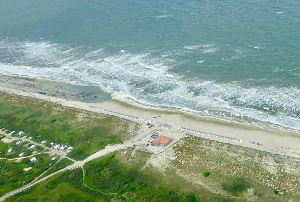 Texel Strände: Strand aus der Luft gesehen