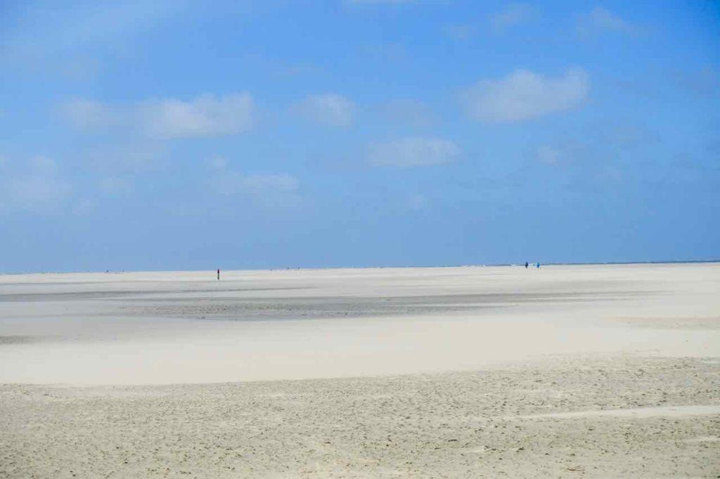 Texel Strände: ewig weiter Strand Strand bei De Cocksdorp, Niederlande