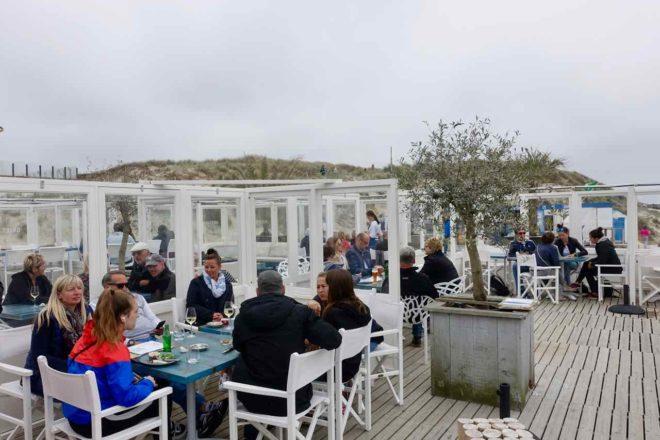 Texel Strände: Strandpavillon De Koog, Niederlande