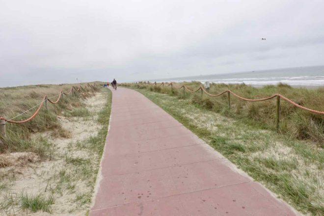 Texel Strände: Strandpromenade von De Koog, Niederlande