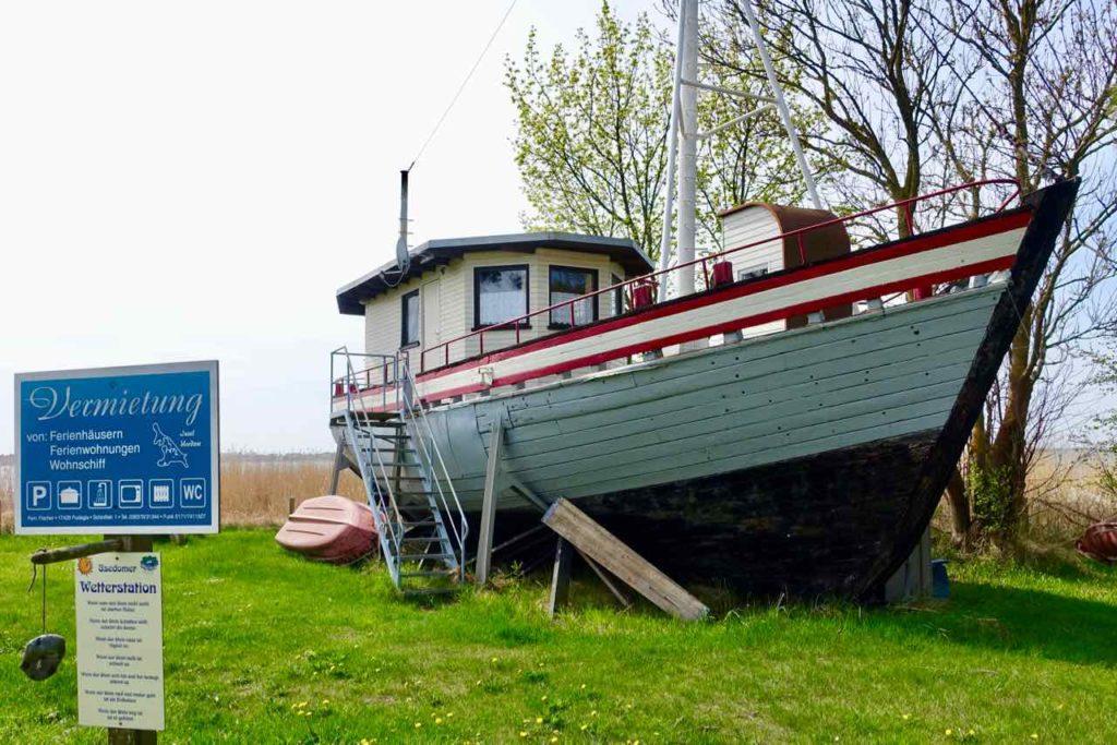 Usedom: Vermietung eines Bootes als Ferienwohnung nahe Pudagla Copyright Peter Pohle