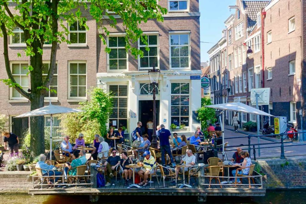 Amsterdam Kurztrip: Café t Smalle in der Egelantiersgracht im Jordaan