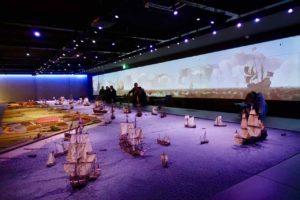 Urlaub auf der Insel Texel: Panorama im Meeresmuseum Kaap Skil auf der Insel Texel