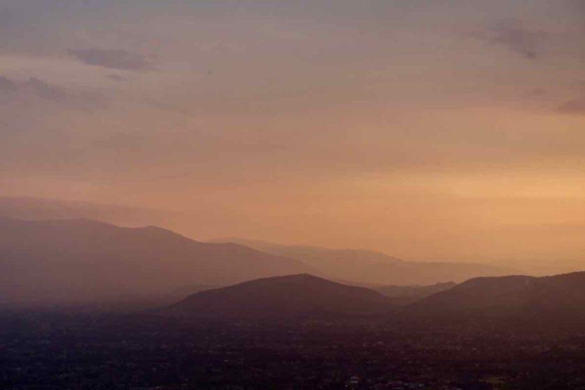 Abendlicher Blick von Veroli (Latium) Italien