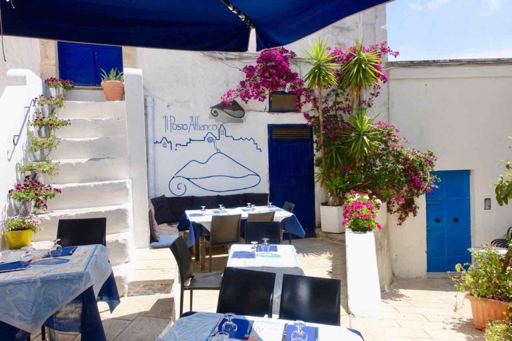 Ostuni in Apulien, Restaurant