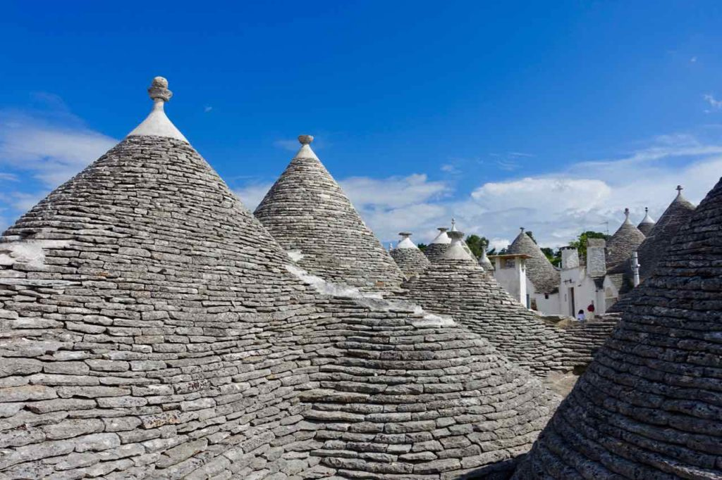 Trulli in Apulien, Dächer in Alberobello