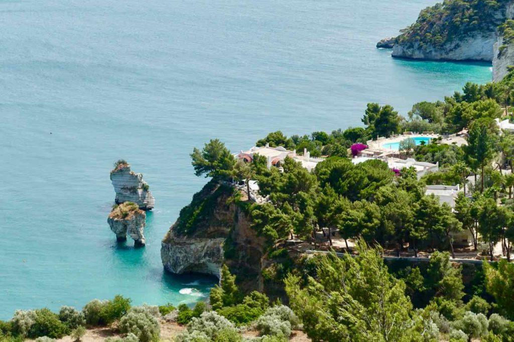 Apulien Strände, Baia delle Zagare auf der Gargano Halbinsel