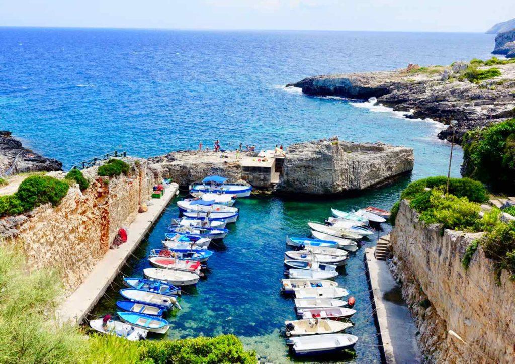 Apulien Strände: Marina die Novaglie, wenige Kilometer nördlich von Santa Maria di Leuca Copyright Peter Pohle