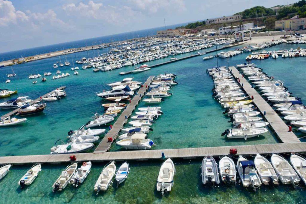 Hafen von Otranto im Salento, Apulien