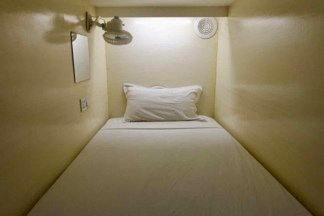 Manila Hotels: Tambayan Capsule Hostel, Bettkapsel