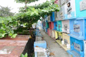 Manila Nordfriedhof, Wand mit Urnengräbern