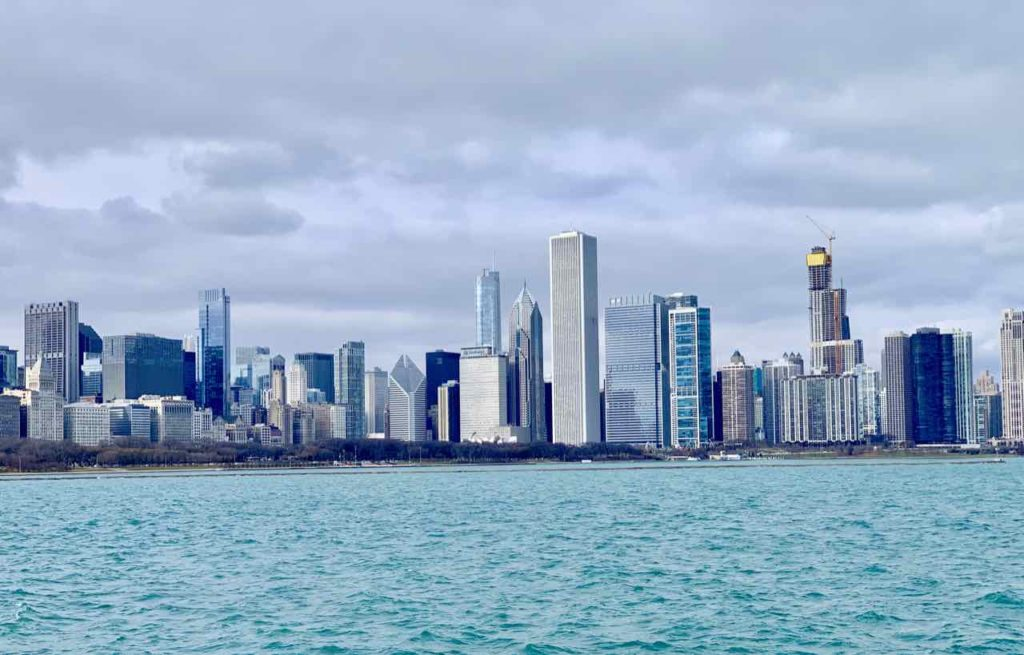 Chicago Aussichtspunkte: Blick über den Lake Michigan vom Adler Planetarium, Foto Peter Pohle PetersTravel