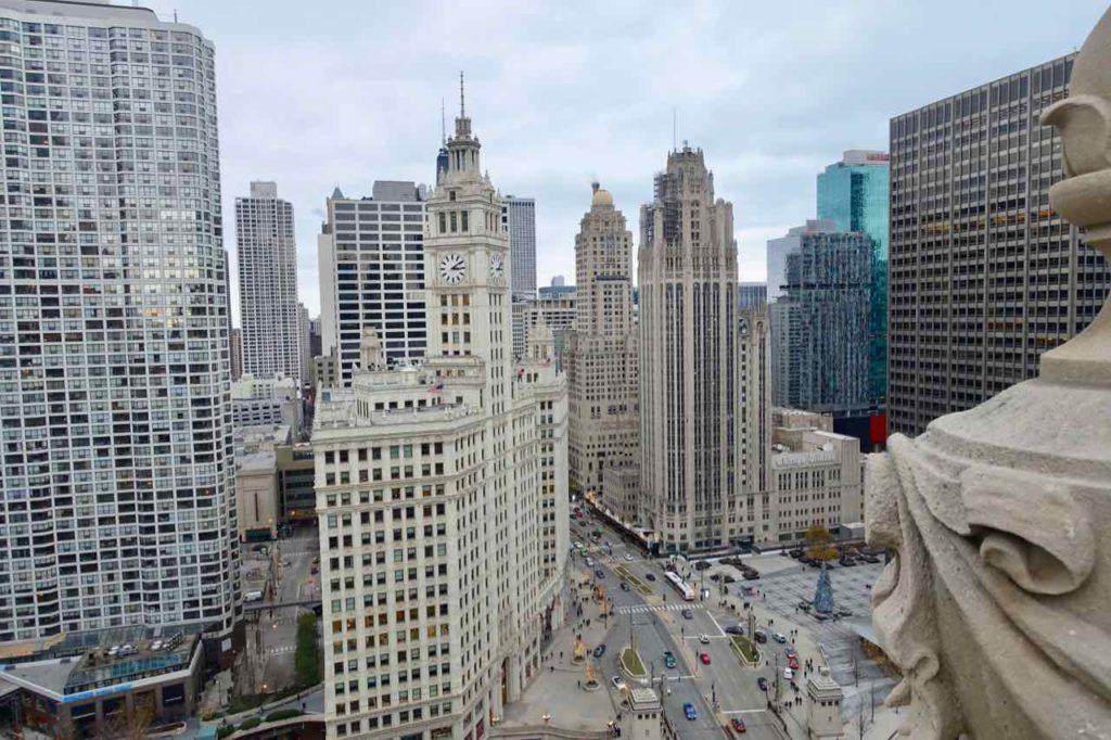 Chicago Aussichtspunkte: Blick von der Dachterrasse des London House Hotel, Foto Peter Pohle PetersTravel