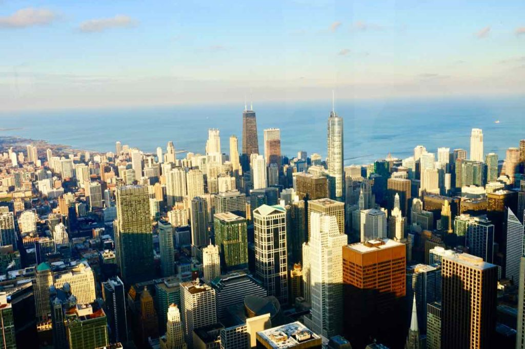 Chicago Aussichtspunkte: Blick vom Willis Tower am Nachmittag, Foto Peter Pohle PetersTravel