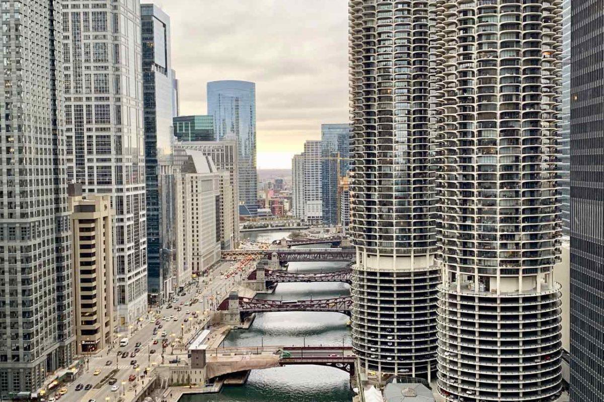 Chicago Aussichtspunkte Chicago von der Terrasse des London House, Foto Peter Pohle PetersTravel