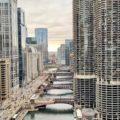 Chicago Aussichtspunkte & Sehenswürdigkeiten: Chicago von der Terrasse des London House, Foto PetersTravel