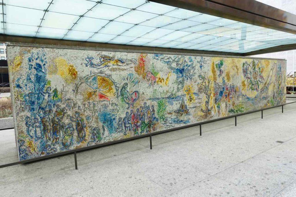 """Chicago Greeter Tour: """"Vier Jahreszeiten"""" von Marc Chagall in The Loop, Foto Peter Pohle PetersTravel"""