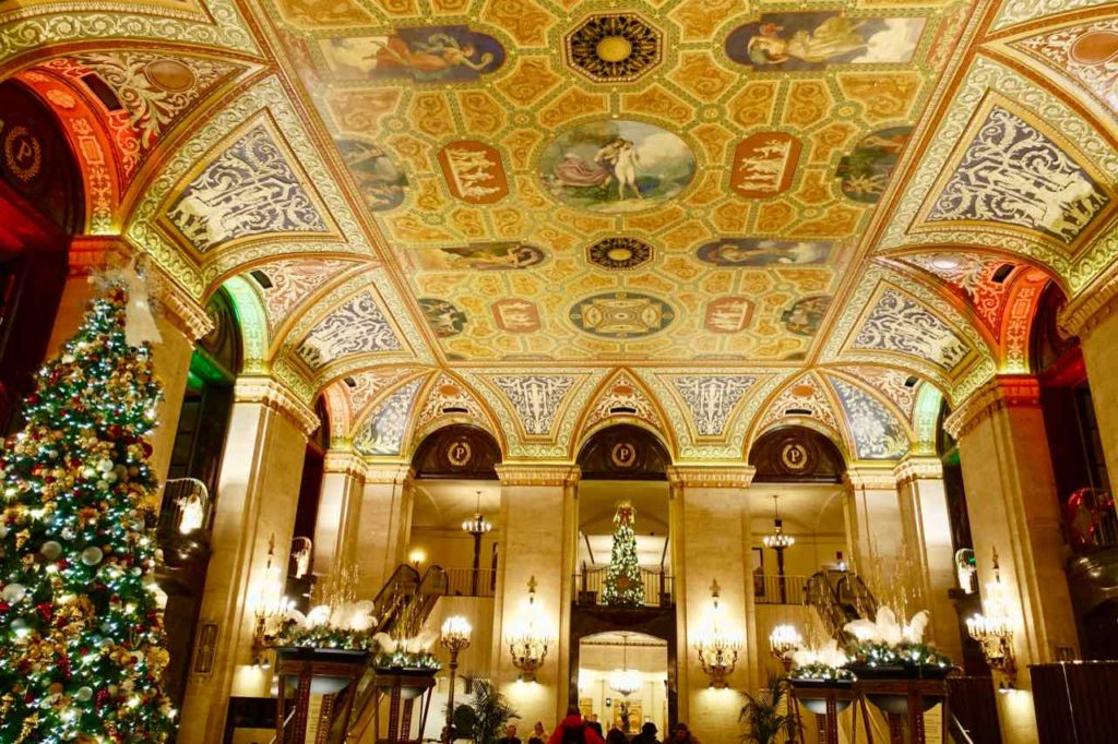 Chicago Greeter Tour im Stadtteil The Loop: Lobby des Palmer House - A Hilton Hotel, Foto Peter Pohle PetersTravel