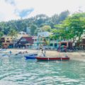 Puerto Galera: Sabang, vom Meer aus gesehen, Philippinen Copyright Peter Pohle PetersTravel
