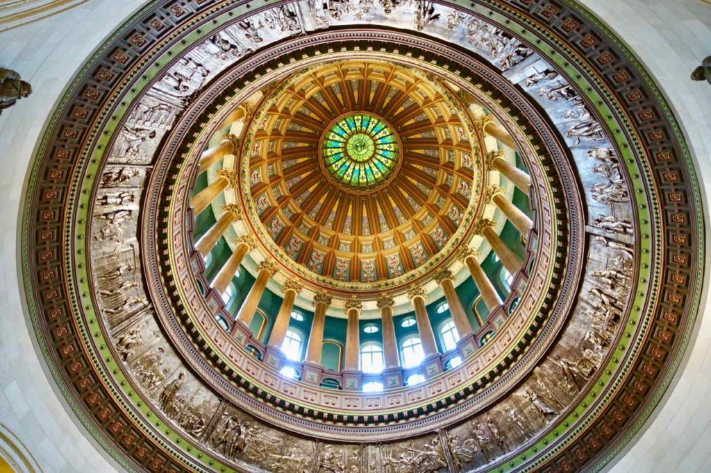Springfield Illinois: Decke vom New State Capitol, Foto Peter Pohle PetersTravel