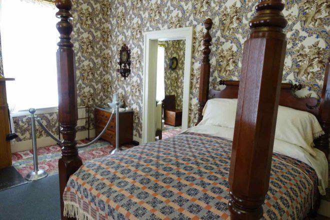 Springfield Illinois: Schlafzimmer im Haus von Abraham Lincoln, Foto Peter Pohle PetersTravel