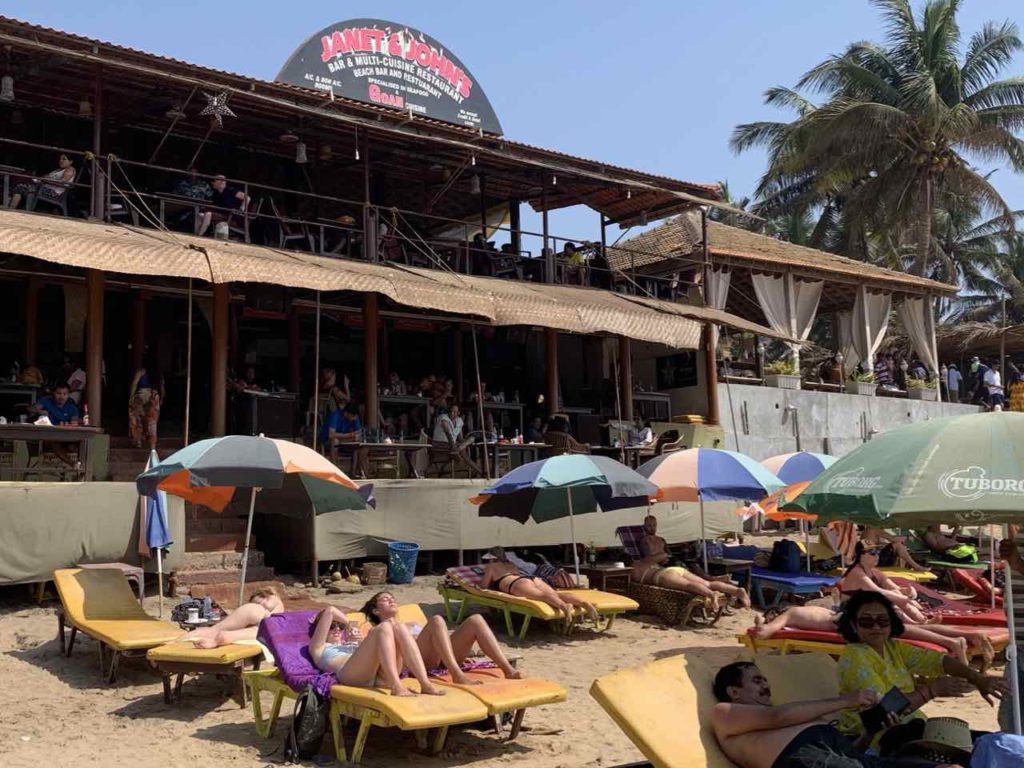 Anjuna Beach, Janet & John's Bar & Restaurant, Copyright Peter Pohle