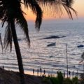 Anjuna Beach in Goa, Sonnenuntergang, Copyright Peter Pohle PetersTravel