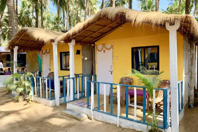 Palolem Beach: Bay Leaf Resort in Goa, Copyright Peter Pohle PetersTravel