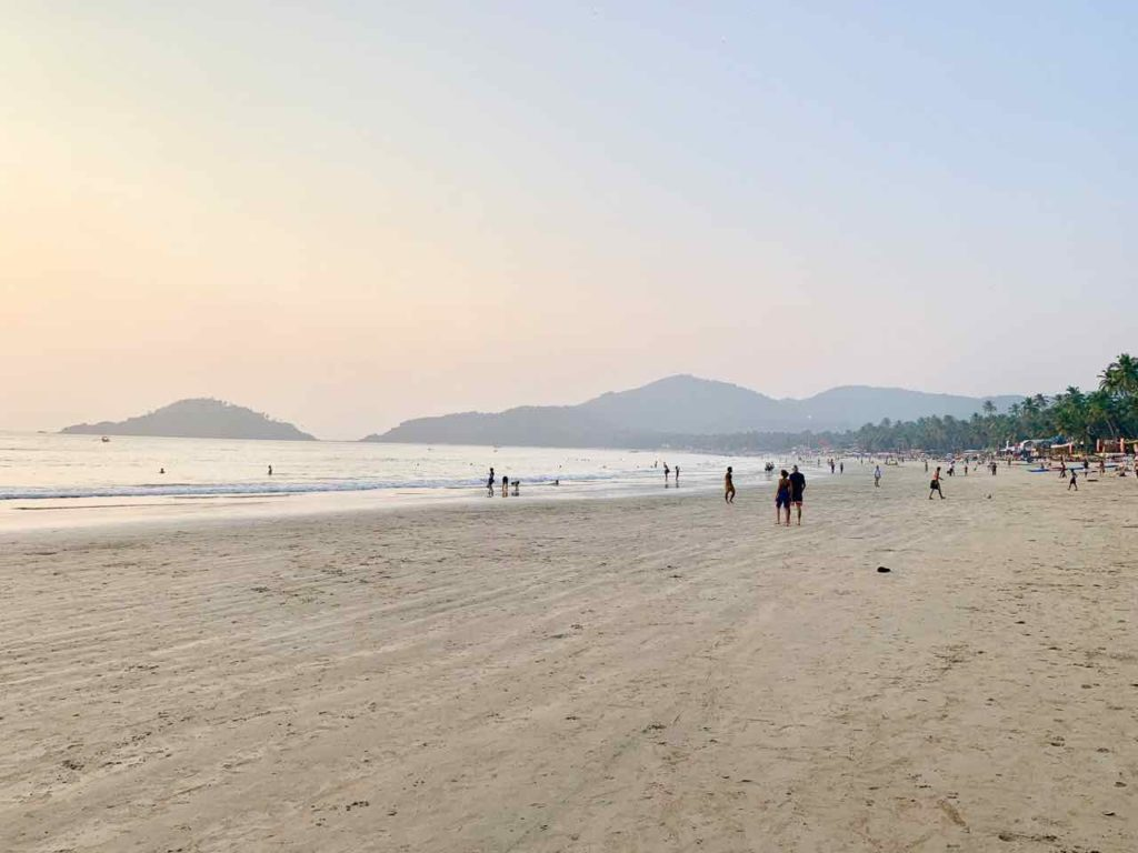 Palolem Beach am Abend, Goa, Copyright Peter Pohle PetersTravel