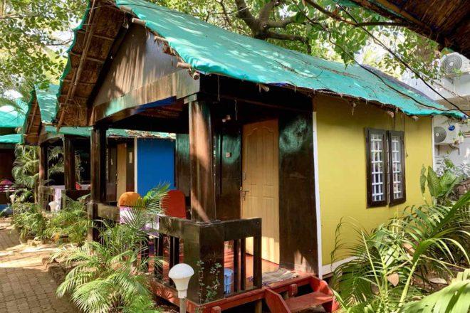 Patnem Beach, Goa, Casa Fiesta Hütte an der Geschäftsstrasse, Copyright Peter Pohle PetersTravel