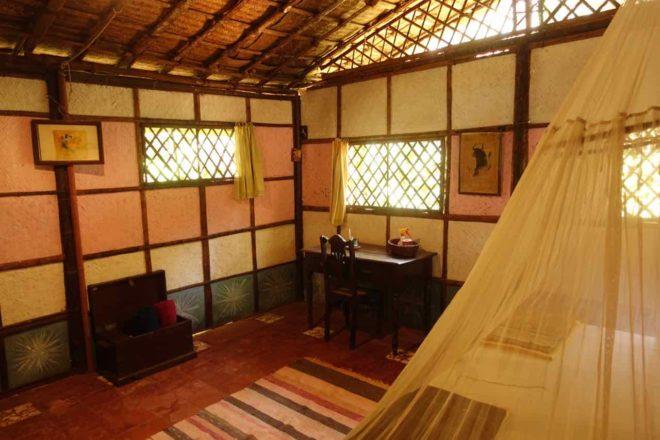 Bhakti Kuti Hut 20, Innen, Palolem Beach, Goa, Copyright Peter Pohle