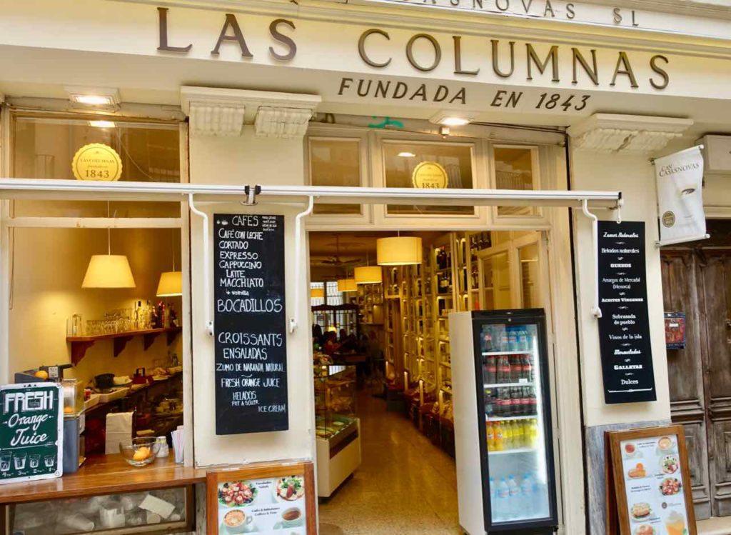 Palmas Traditionsgeschäfte: Las Columnas in Palma de Mallorca