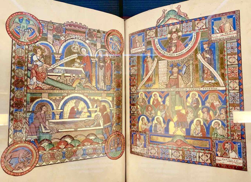Faksimileseiten aus dem Evangeliar Heinrichs des Löwen, Wolfenbüttel Herzog August Bibliothek