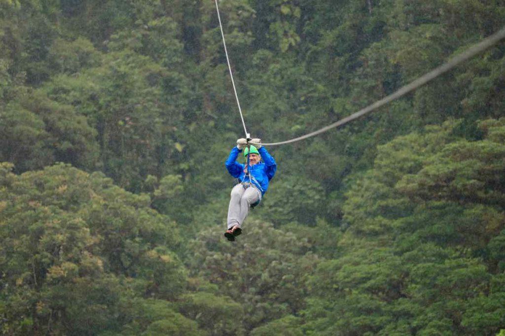 Canopy über dem Regenwaöd von Monteverde