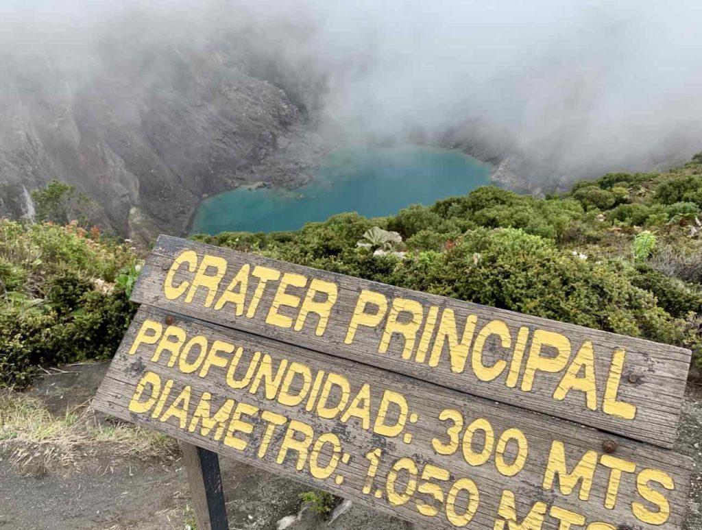 Krater Principal vom Vulkan Irazu, Costa Rica