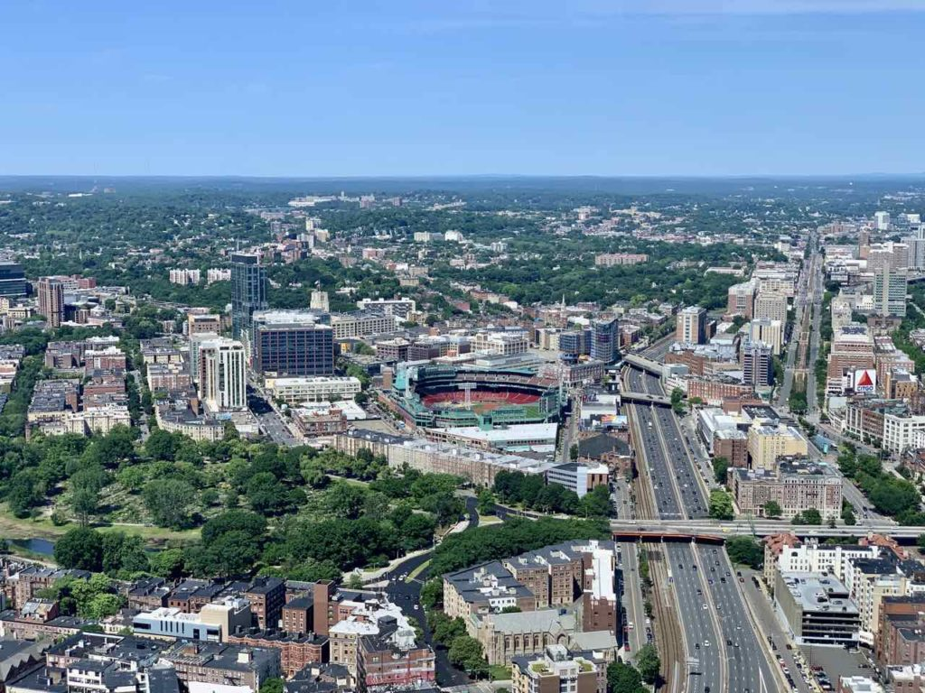 Boston, Massachusetts vom Prudential Tower, Copyright PetersTravel