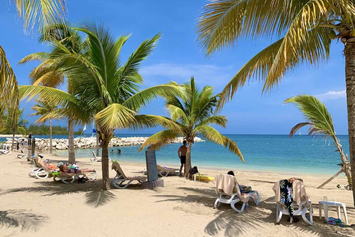Hotelstrand in Montego Bay