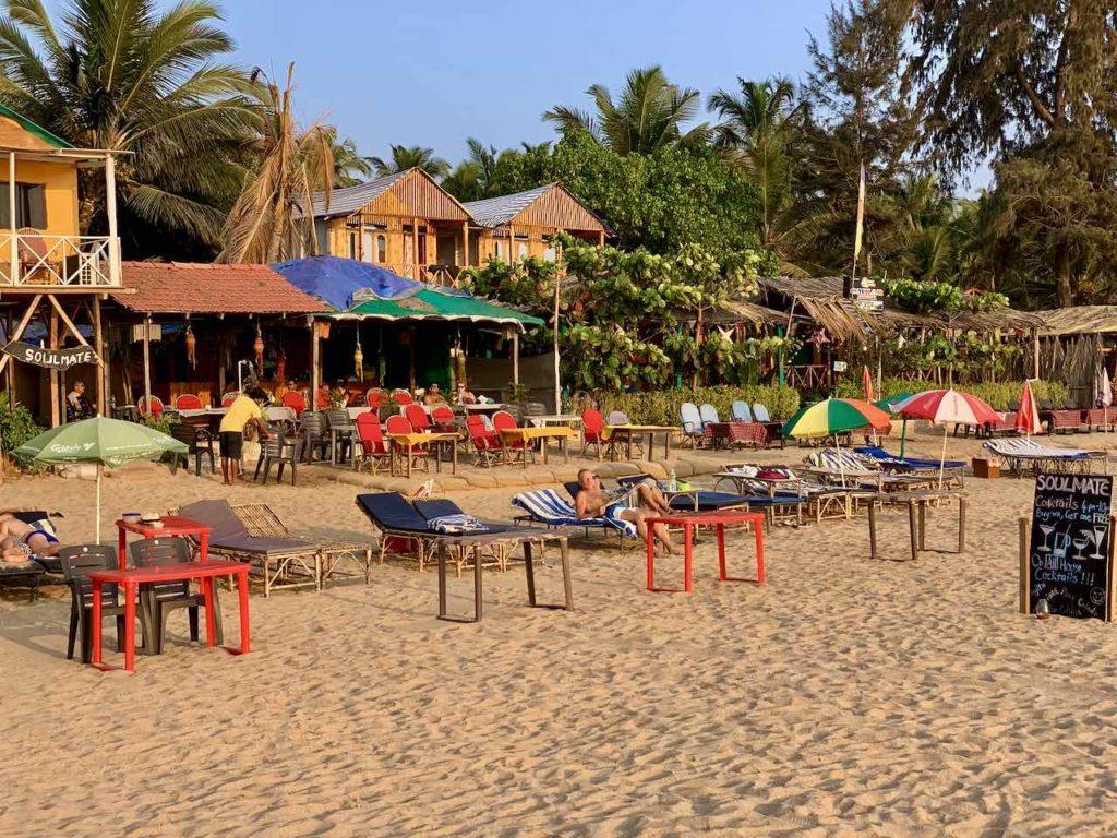 Agonda Beach am Nachmittag