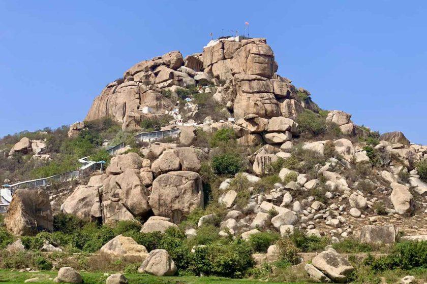 Hampi: Blick zum Monkey Temple