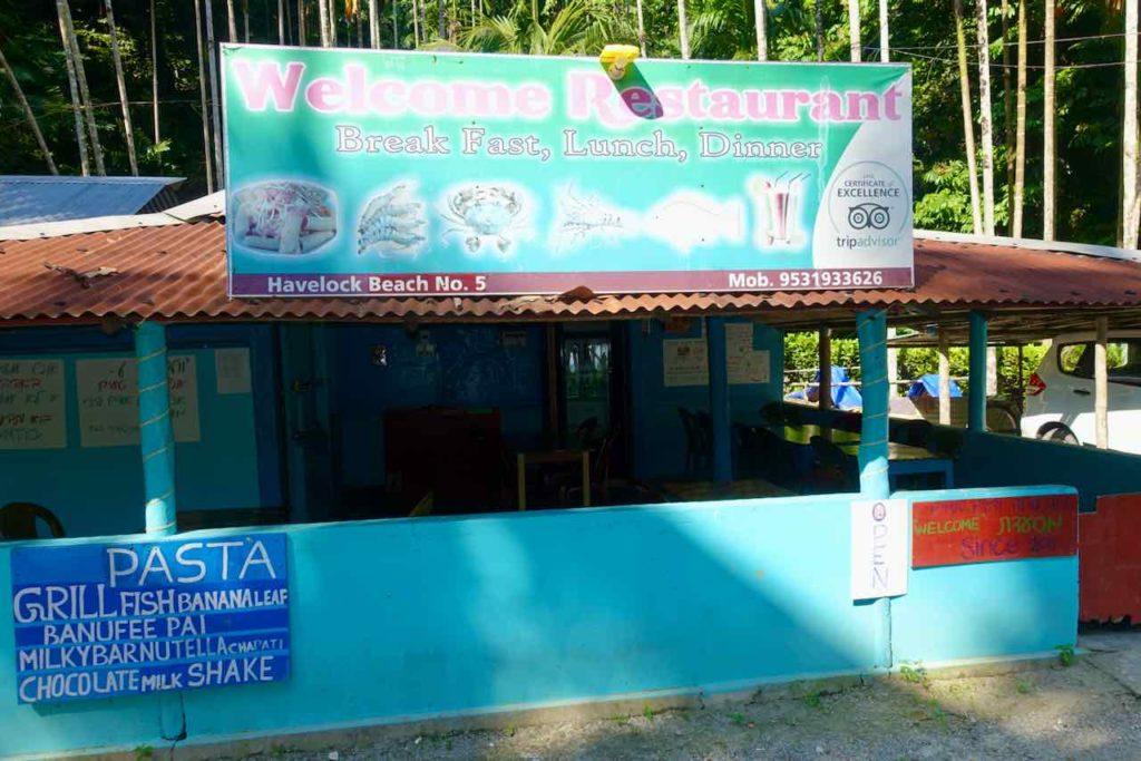 Andamanen: Havelock Island, Welcome Restaurant (Beach 5)