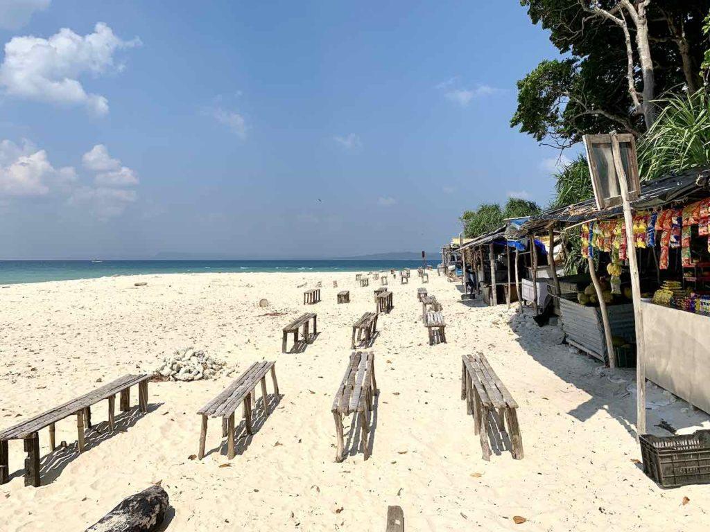 Andamanen: Lakshmanpur Beach auf Neill Island