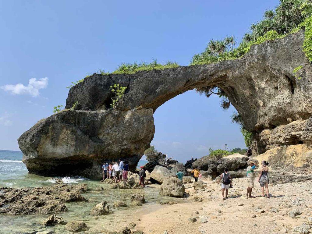 Andamanen Natural Bridge auf Neill Island