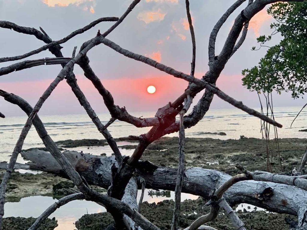 Andamanen Neill Island: Strand beim Break Water am Abend